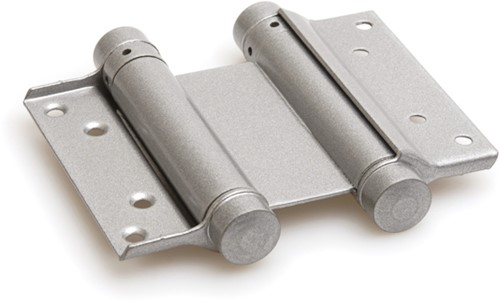Dubbelwerkend bommerscharnier deurdikte 40-45 mm - Zilvergrijs gelakt