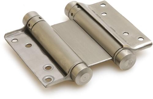 Dubbelwerkend bommerscharnier deurdikte 35-40 mm - Zilvergrijs gelakt