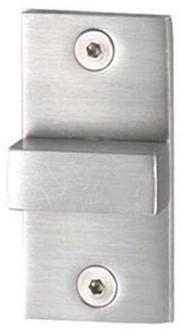 PBA toilet vrij/bezet rozet rechthoekig - RVS