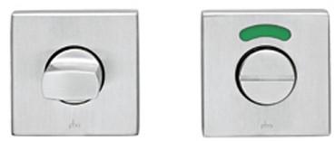 PBA toilet vrij/bezet rozet vierkant - RVS