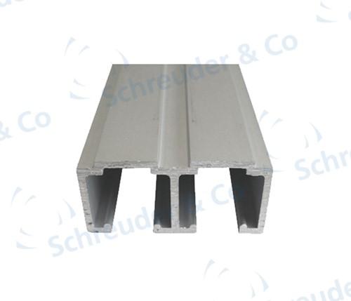 Dubbele bovenrail kastsysteem 1050 50/80 kg - 2 meter
