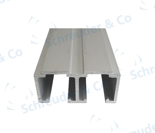 Dubbele bovenrail kastsysteem 1050 50/80 kg - 4 meter