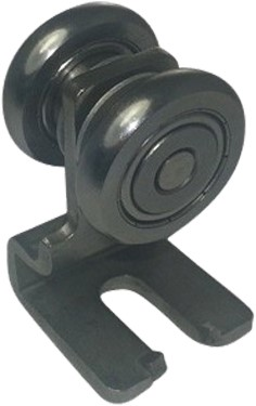 250095: Enkele RVS hangrol met S-haak -  serie 0 RVS tot 200 kg