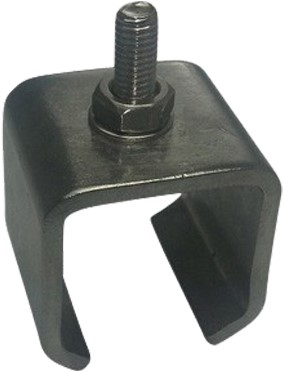 251286: RVS Raildrager met draadeind M8 30 mm  - plafondmontage - serie 0 RVS tot 200 kg