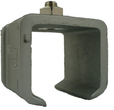 351390: raildrager met draadeind M8 16 mm - plafondmontage - serie 0 tot 200 kg