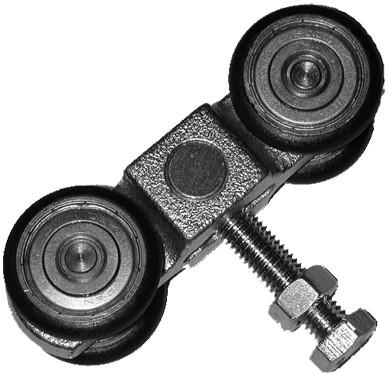 361030: geluidsdempende dubbele hangrol - serie 0 tot 200 kg