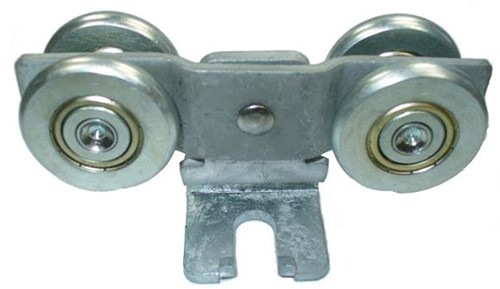 430192: dubbele hangrol met S-haak - serie 1 tot 600 kg