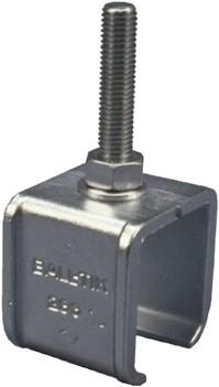 430286/25MM: raildrager met draadeind M12 25 mm - plafondmontage - serie 1 tot 600 kg