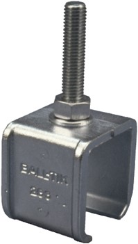 430286: raildrager met draadeind M12 55 mm - plafondmontage - serie 1 tot 600 kg