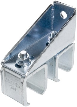 430300: verstelbare - dubbele raildrager - wandmontage - serie 1