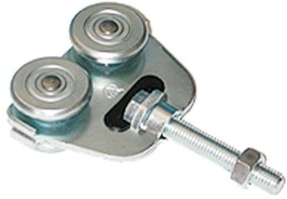 431002: dubbele hangrol met draadeind M12 80 mm - serie 1 tot 600 kg