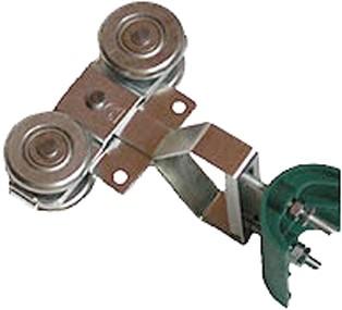 432321: Dubbele hangrol met nylon kabelgeleider - serie 1 tot 600 kg