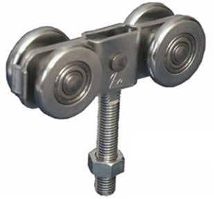 435404: dubbele hangrol met draadeind M12 56 mm - serie 1 tot 600 kg