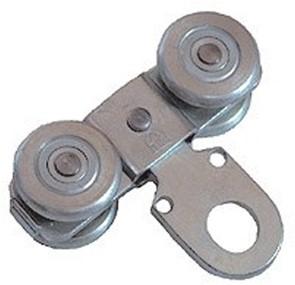 435444: dubbele hangrol met oog - serie 1 tot 600 kg