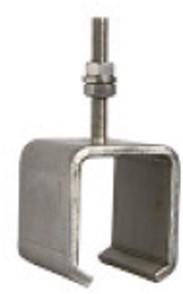 450286: RVS raildrager met draadeind M8 60 mm - plafondmontage - serie 1 RVS tot 600 kg