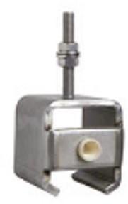 450287: RVS raildrager met draadeind M8 60 mm en eindstop - plafondmontage - serie 1 RVS tot 600 kg