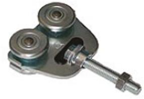 451002: dubbele RVS hangrol met draadeind M12 80 mm - serie 1 RVS tot 600 kg