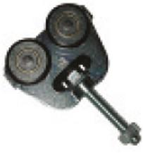 461002: dubbele hangrol low noise met draadeind M12 80 mm - serie 1 tot 600 kg