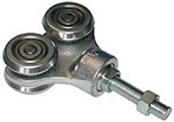 570096: dubbele hangrol met draadeind M16 90 mm - serie 2 tot 1000 kg