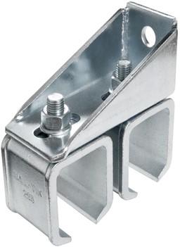 570165: dubbele raildrager - verstelbaar - wandmontage - serie 2 tot 1000 kg
