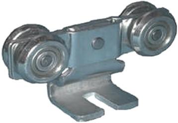 570192: dubbele hangrol met S-haak - serie 2 tot 1000 kg