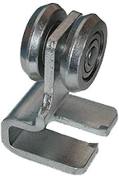 570195: hangrol met stalen S-hoek - serie 2 tot 1000 kg