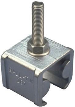 570294: raildrager met eindstop en draadeind M16 60 mm - plafondmontage - serie 2 tot 1000 kg