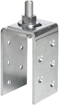 571012: bevestigingsplaat met schroefdraad - serie 2 tot 1000 kg