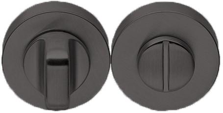Toilet vrij/bezet rozet 10 mm - rond - Grafiet mat (CD49 BZG G GM)