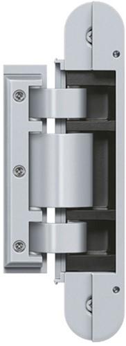 Tectus Glas scharnier TEG 310 - 60 kg - Chroom mat