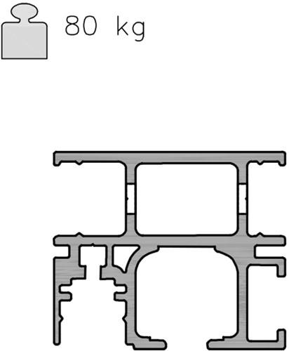 K Art Softclose wandrail 40/80 kg - 2.56 meter