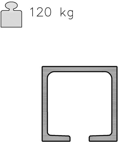 K Art rail 120 kg - 3 meter