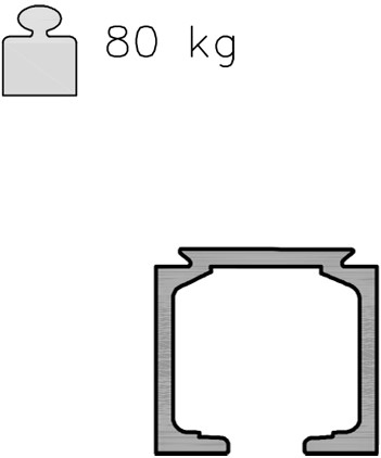 K Art rail 40/80 kg - 3 meter