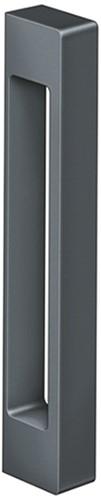 KC 170 deurgreep voor glazen deur - Pure Grey