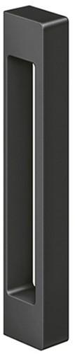 KC 170 deurgreep voor glazen deur - Mat zwart (RAL 9005)