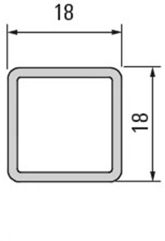 Smartcube profiel zwart - 1500 mm