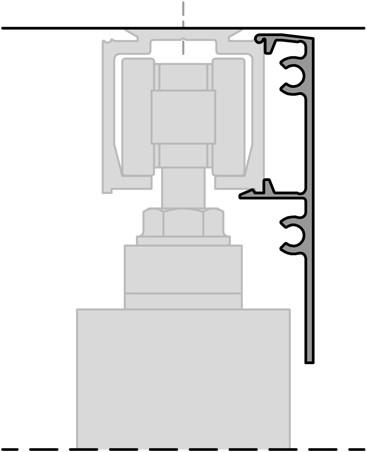 ROB afdekprofielset 80 kg rail 1.86 m - plafondmontage