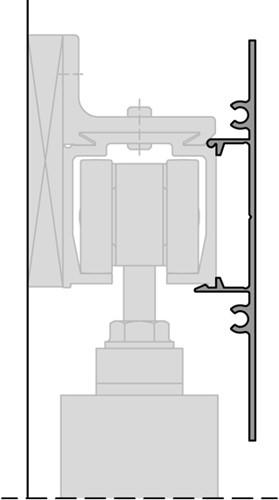 ROB afdekprofiel wandmontage 120 kg rail