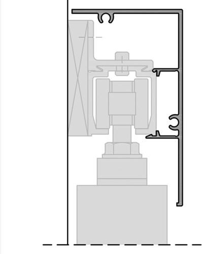 ROB afdekprofiel wandmontage hoek 80 kg rail