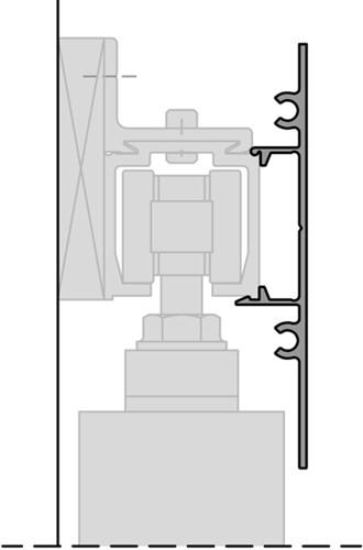ROB afdekprofielset 80 kg rail 1.86 m - wandmontage