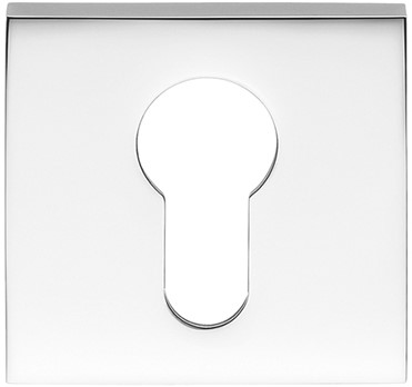 Cilinderrozet 6.5mm - vierkant - Chroom glanzend - FF23-CR