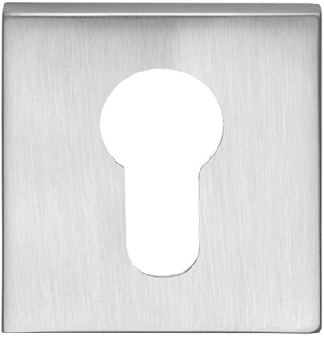 Cilinderrozet 6.5mm - vierkant - Chroom mat - FF23-CM