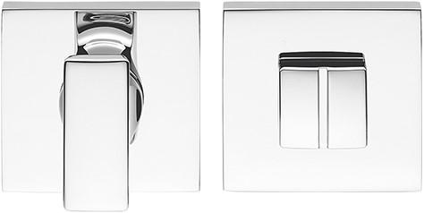 Toilet vrij/bezet rozet 6.5mm - vierkant - Chroom glanzend - FF29BZG-CR