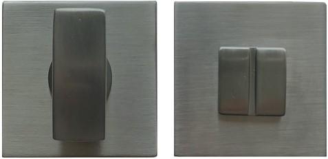 Toilet vrij/bezet rozet 6.5mm - vierkant - Grafiet mat - FF29BZG-GM