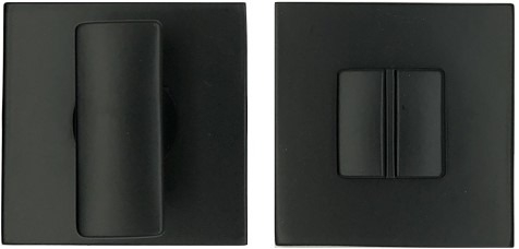 Toilet vrij/bezet rozet 6.5mm - vierkant - Zwart mat - FF29BZG-NM
