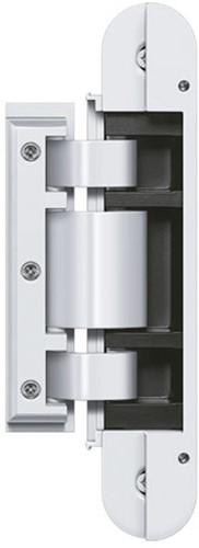 Tectus Glas scharnier TEG 310 - 80 kg - Wit (RAL 9016)