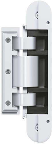 Tectus Glas scharnier TEG 310 - 60 kg - Wit (RAL 9016)