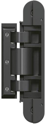 Tectus Glas scharnier TEG 310 - 60 kg - Zwart (RAL 9005)