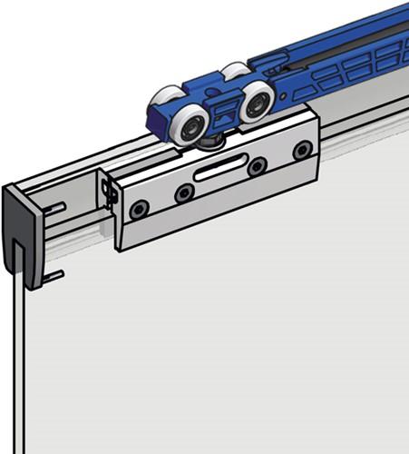 ROB Ophangkit Expert 80 kg Glazen deur met softclose en softopen