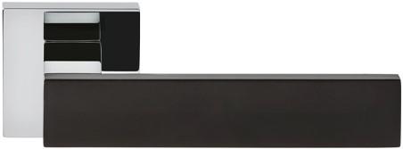 Colombo Design Alba deurkruk - chroom glanzend / zwart mat